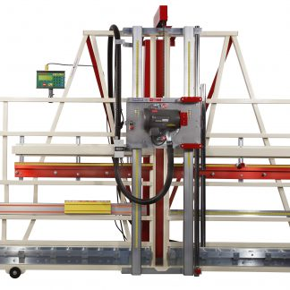 Automatic measuring device mounted on a Safety Speed 7400 Model Vertical Panel Saw