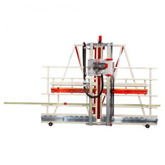 vertical saw featuring for cabinet making and continuous cutting