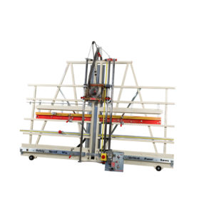 Vertical Saw and router for processing aluminum composite material
