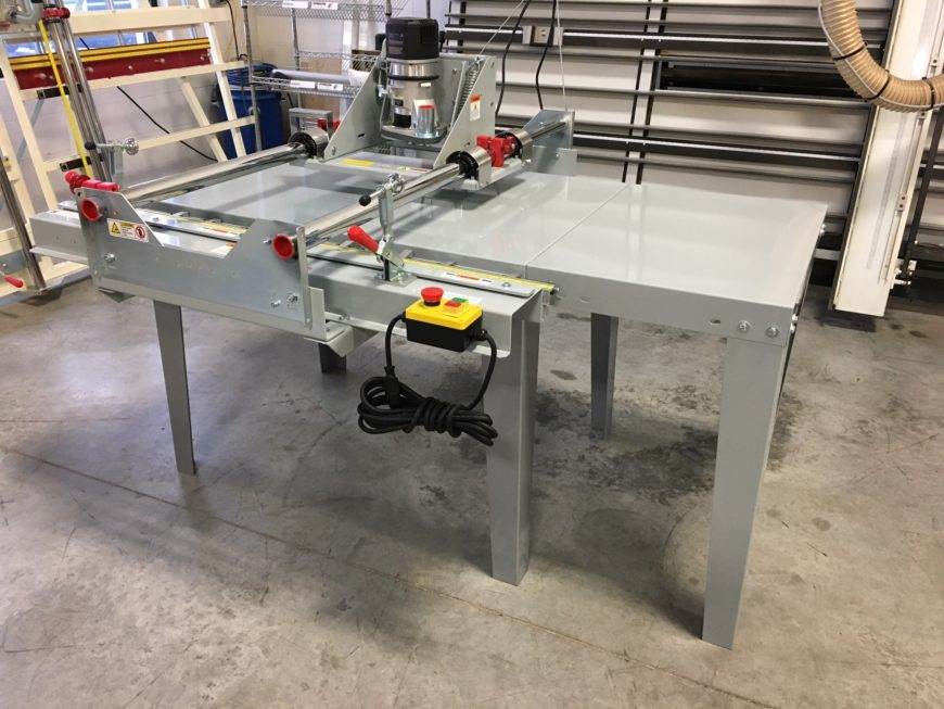 extension table for panel router