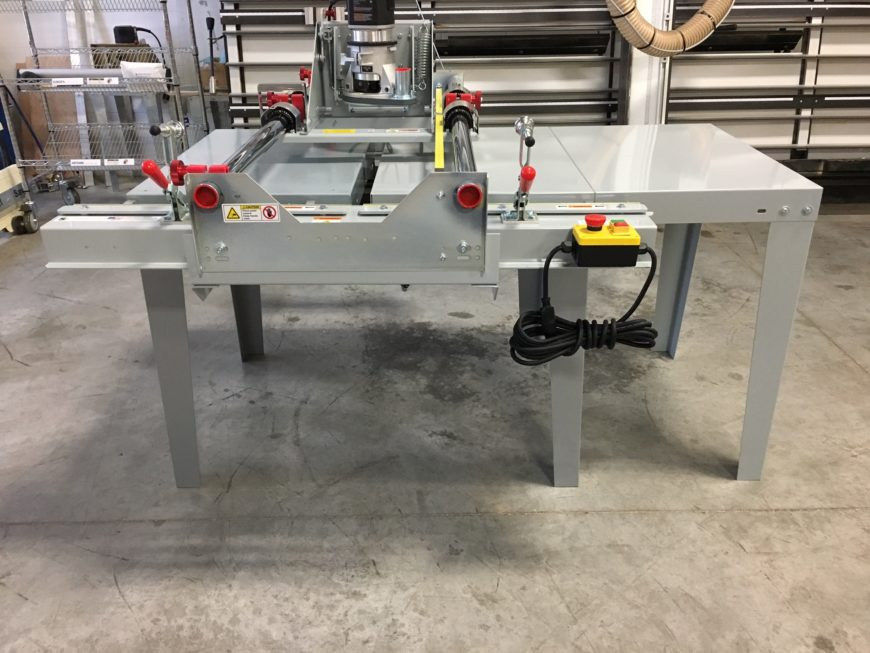 panel router extension table