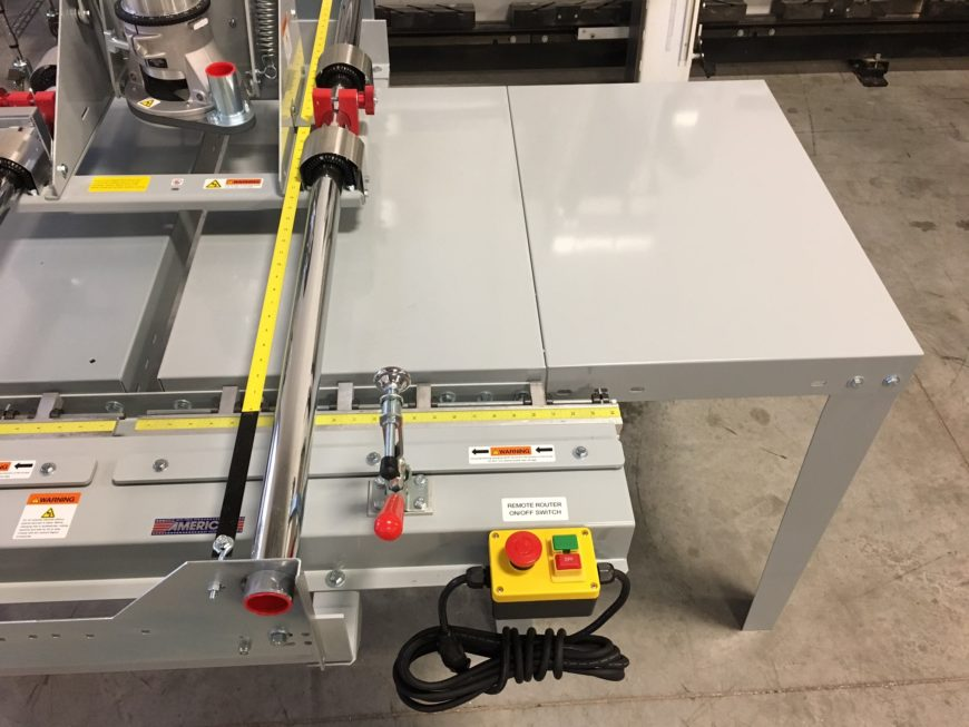 Panel router table