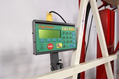 TigerStop control. Top accessory for vertical panel saw