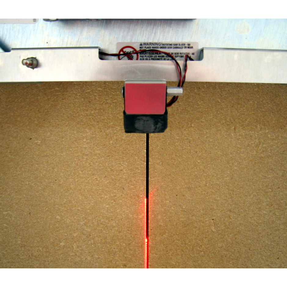 panel saw accessory, laser line