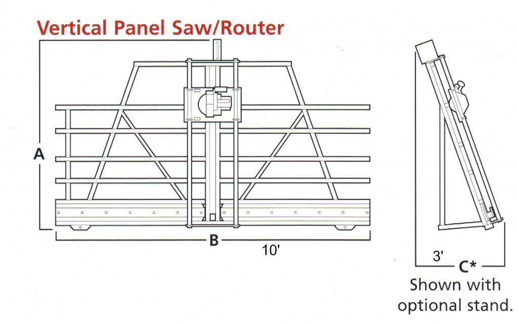 Machine Dimensions Panel Saw
