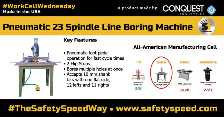 Safety Speed Manufacturing Line Boring Graphic