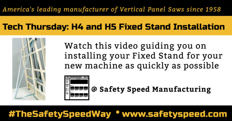 Installing fixed stand on vertical panel saws